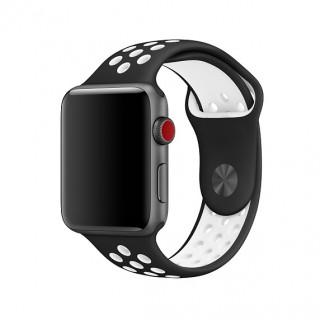 Ремешок для Apple Watch 38/40mm Nike Band Black White