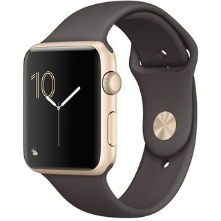 Watch Apple Watch Series 1 42mm Gold Aluminum Case with Cocoa Sport Band (MNNN2)