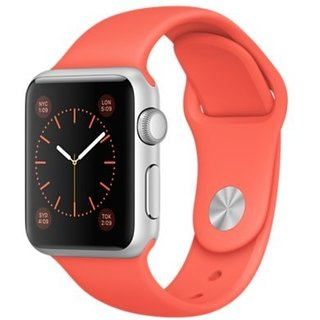 Watch Apple Watch Sport 38mm Silver Aluminum Case with Apricot Sport Band (MMF12)