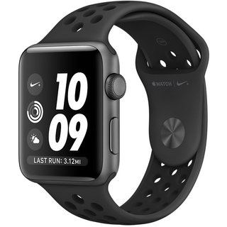 Watch Apple Watch Nike+ 42mm Space Gray Aluminum Case with Anthracite/Black Nike Sport Band (MQ182)