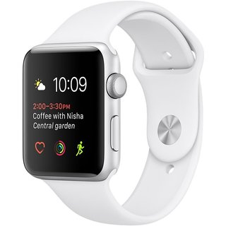 Watch Apple Watch Series 2 42mm Silver Aluminum Case with White Sport Band (MNPJ2)