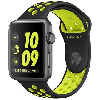 Watch Apple Watch Nike+ 38mm Space Gray Aluminum Case with Black/Volt Nike Sport Band (MP082)