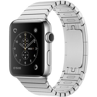 Watch Apple Watch Series 2 38mm Stainless Steel Case with Silver Link Bracelet Band (MNP52)
