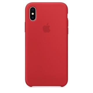 Чехол Silicone Case для iPhone Xs/X (Product)Red Premium Copy