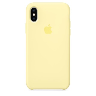 Чехол Silicone Case для iPhone Xs/X Mellow Yellow Premium Copy