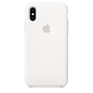 Чехол Silicone Case для iPhone Xs/X White Premium Copy