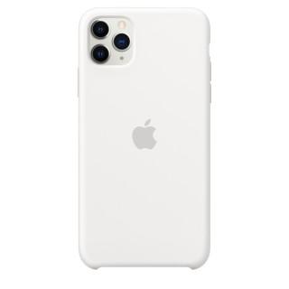 Чехол Silicone Case для iPhone 11 Pro Max White OEM Премиум качество