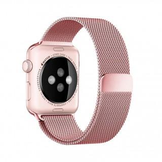 Ремешок для Apple Watch 42/44mm Milanese Loop Rose Gold