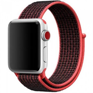Ремешок для Apple Watch 38/40mm Sport Loop Bright Crimson / Black