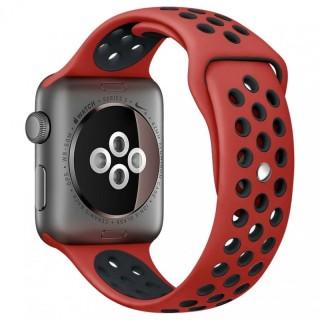 Ремешок для Apple Watch 38/40mm Nike Band Obsidian Red/Black