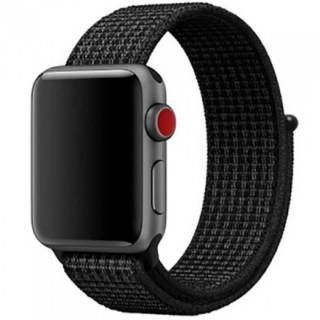 Ремешок для Apple Watch 42/44mm Sport Loop Black / Pure Platinum