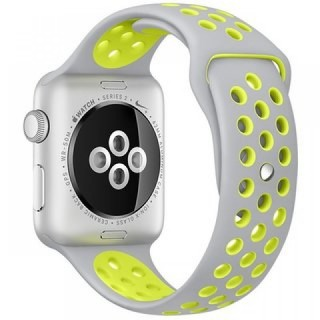 Ремешок для Apple Watch 42/44mm Nike Band Grey/Yellow