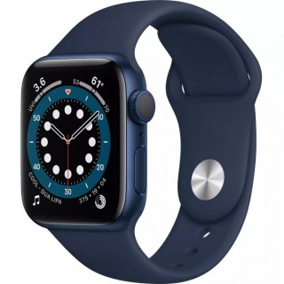 Apple Watch Series 6 GPS 44mm Blue with Deep Navy Sport Band (M00J3)