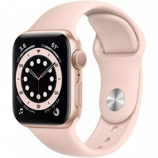 Apple Watch Series 6 GPS 44mm Gold with Pink Sand Sport Band (M00E3)