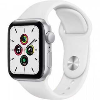 Apple Watch Series SE 44mm Silver with White Sport Band (MYDQ2)