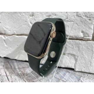 Apple Watch Series 6 44mm Gold Stainless Steel Cyprus Green б.у
